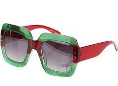 bb3921219c4 Gucci Inspired Glitter Square Sunglasses