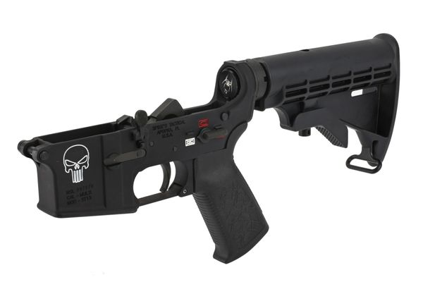Spike's Tactical Complete Punisher AR-15 Lower - Color Fill