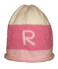 Rugby Striped Initial Hat