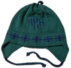 Personalized Snowflake Monogram Earflap Hat