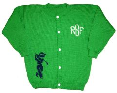 Monogrammed Golf Sports Cardigan for Infants and Children