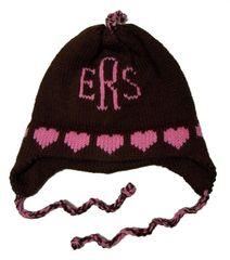 Personalized Heart Monogram Earflap Hat