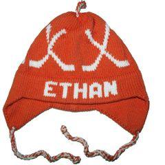 Personalized Hockey Earflap Hat
