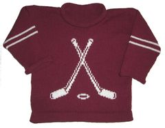 Custom Knit Personalized Hockey Sports Sweater