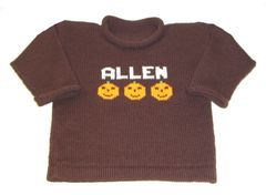 Pumpkin Personalized Name Sweater