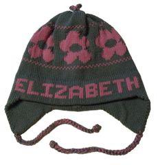 Personalized Daisy Earflap Hat