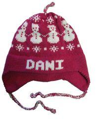 Personalized Snowman Earflap Hat