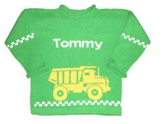 Personalized Construction Pullover for Little Boys