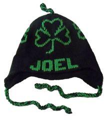 Personalized Shamrock Earflap Hat