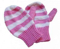 Striped Cotton Mittens