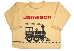 Personalized Train Baby Pullover Sweater