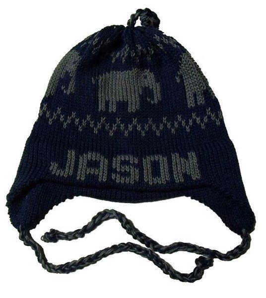 25931fc32a3 Personalized Elephant Earflap Hat