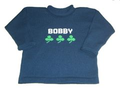 Personalized Name Sweater with Shamrocks