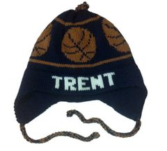 Personalized Basketball Earflap Hat