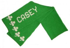 Custom Knit Shamrock Scarf for St. Patrick's Day