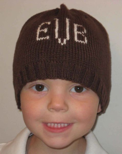 Custom Baby Beanie with Name or Monogram  2c6e1af32bf