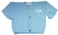 Little All Star Monogrammed Baby Cardigan
