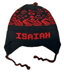Personalized Snowmobile Earflap Hat