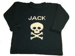 Personalized Skull and Crossbones Pullover