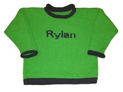 Two Color Personalized Name Pullover
