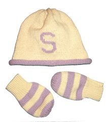 Personalized Hat and Mitten Set For Baby