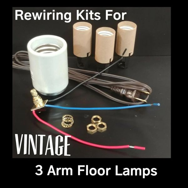 Rewiring Kit For Vintage 3 Arm Floor Lamp | Lighting Supplies ... on welding a lamp, rewiring lamp parts, rewire a lamp, design a lamp, rewiring lamp fixture, soldering a lamp, paint a lamp, wire a lamp, repair a lamp, rebuilding a lamp, rewiring radio, diy pipe lamp, polishing a lamp, lights a lamp, repainting a lamp, plastering a lamp,