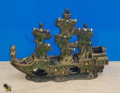Aquarium Ornament Shipwreck Sunken Boat Ship Fish Tank Decoration