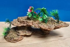 Rock Plants Aquarium Ornament Cave Fish Tank Bowl Decoration