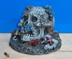 Skull Coral Rock Ornament Aquarium Decoration Fish Bowl Tank Goldfish