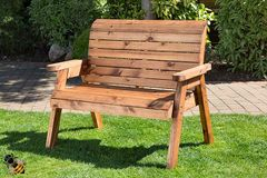 Garden Bench 2 Seater Chunky Wooden Furniture Hand Made