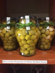 Manzanilla Rosemary and Garlic Stuffed Olives (20oz)