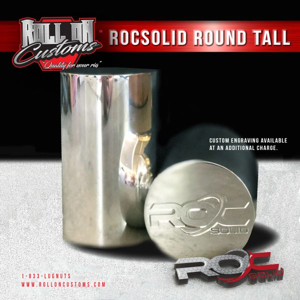 "(Set of 40) ROCSOLID Round Tall Round Lug Nut Covers 2 3/8"" x 4"""