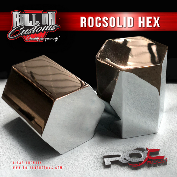 "(Set of 40) ROCSOLID Hex Lug Nut Covers 2 3/8"" x 3"""