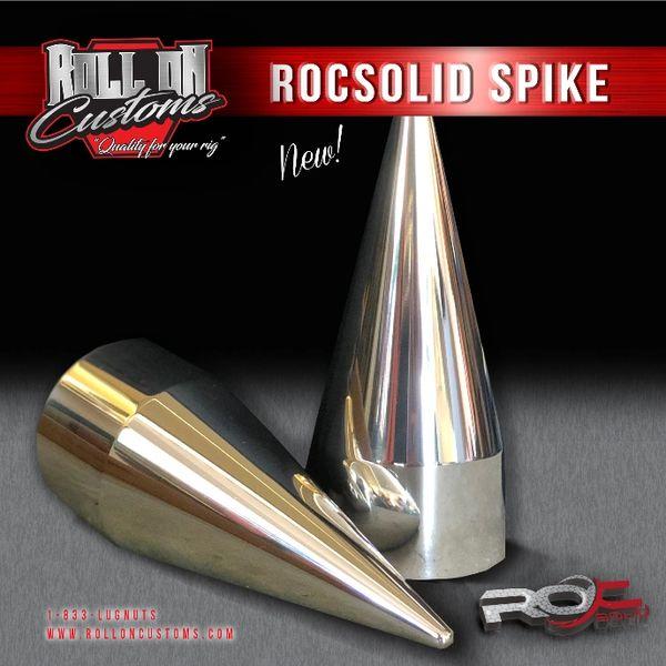 "(Set of 60) ROCSOLID Spike Lug Nut Covers 2 3/8"" x 6"""