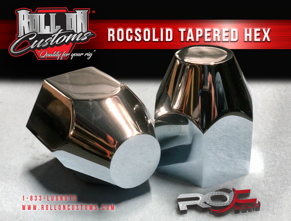 """(Set of 40) ROCSOLID Tapered Hex Lug Nut Covers 2 3/8"""" x 3"""""""