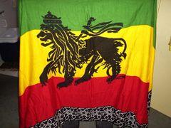 RASTA LION SARONG FLAG