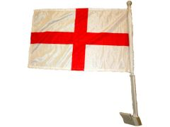 "ENGLAND 12"" X 18"" INCHES COUNTRY HEAVY DUTY WITH STICK CAR FLAG .. NEW AND IN A PACKAGE"