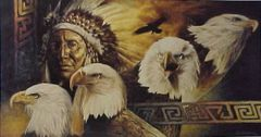 """Lakota Twilight"" - 17.5x33 by David C Berhens Limited Edition Print"