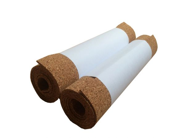 Adhesive Cork Rolls - 1 Meter x 300mm - 4mm Thick - Pack of 2