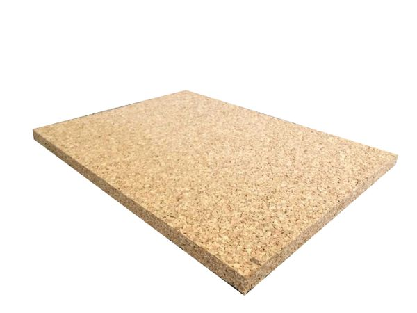 Adhesive Cork Sheet - 440mm x 300mm - 4mm Thick - 4 Pack