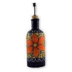 Hand painted Spanish Olive Oil Pourer (Azahara)