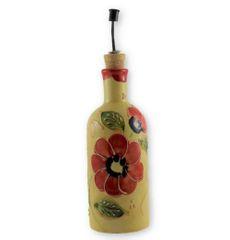 Hand painted Spanish Olive Oil Pourer (Amapola Flor)