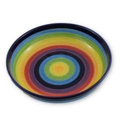 Hand painted Spanish Salad Bowl (Arcoiris)