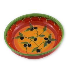 Hand painted Spanish Salad Bowl (Olivia Tri Color)