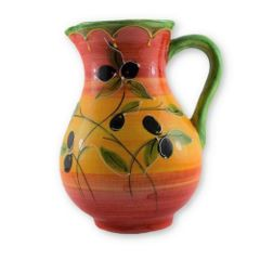 Hand painted Spanish Sangria Jug (Olivia Tri Color)