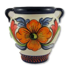 Hand painted Spanish wall planter (ref 210/SVN)