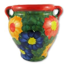 Hand painted Spanish wall planter (ref 210/PR)