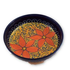 Hand painted Spanish Salad Bowl (Azahara)