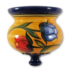 Hand painted Spanish wall planter (ref 527/TUL)