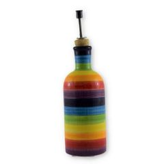 Hand painted Spanish Olive Oil Pourer (Arcoiris)
